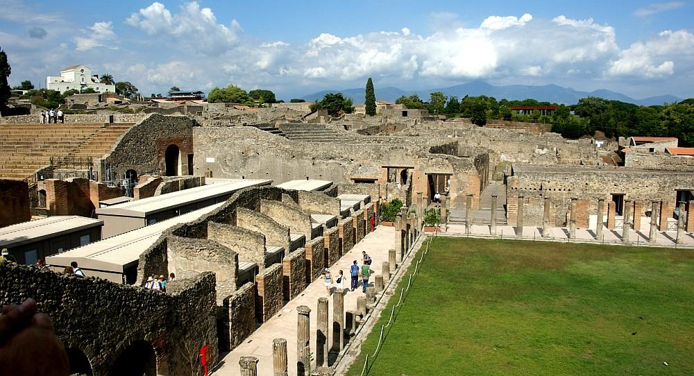 Ruínas da antiga cidade romana de pompeia