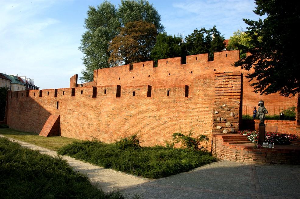 Imagens de Varsóvia - Muralhas da cidade velha Mural